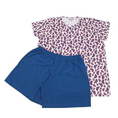 Pijama Borboleta Feminino Short Doll