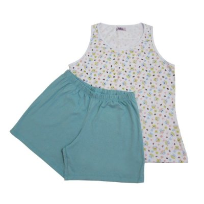 Pijama Coruja Regata Feminino