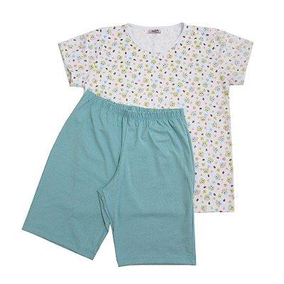 Pijama Coruja Feminino Bermuda
