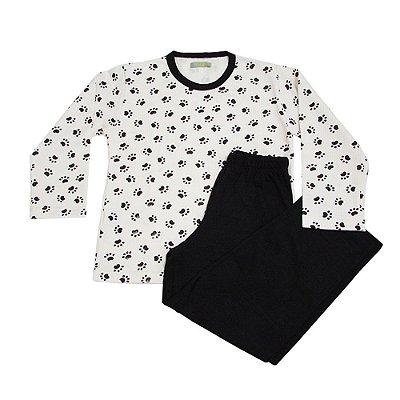 Pijama Infantil Moletom Pata