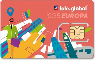 CHIP EUROPA com 10GB Internet 4G