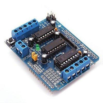 Motor Shield L293D Driver Ponte H para Arduino