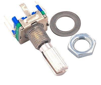 Potenciômetro Rotativo EC11 - Haste 20mm - 5 Terminais