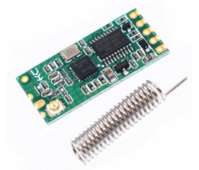 Transceptor RF 433MHz 1000 + Antena - HC11