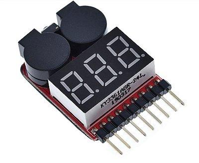 Teste de Bateria com LED e Alarme - 1S-8S