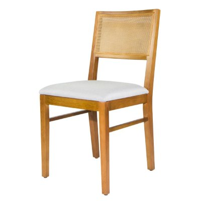 Cadeira Madeira Virgo Para Mesa de Jantar Tela Slim