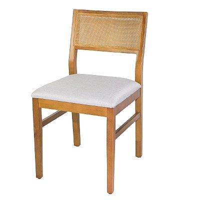 Cadeira Madeira Para Mesa de Jantar Zafira Cor Mel