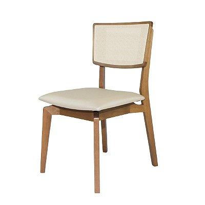 Cadeira Para Mesa de Jantar Naomi Madeira Maciça