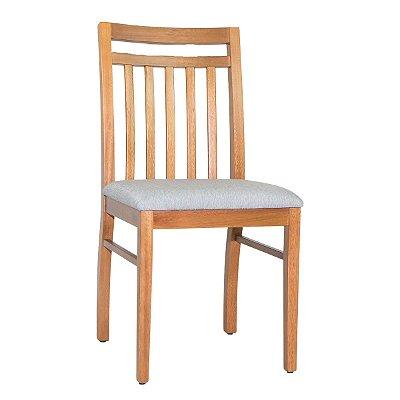 Cadeira Madeira Lisboa Natural Ripada Para Mesa de Jantar