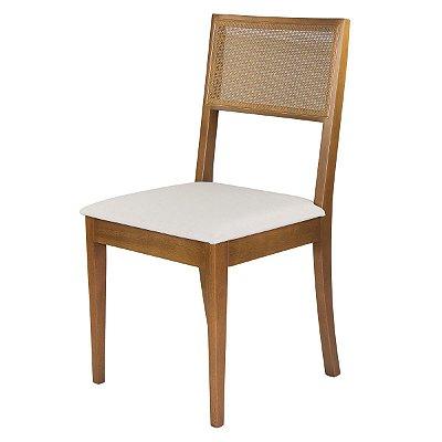 Cadeira Para Mesa de Jantar Moca Madeira Maciça Tela Slim