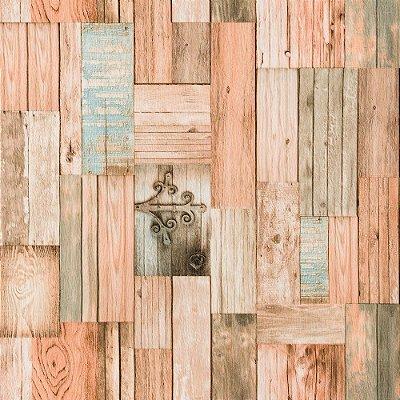 Papel De Parede Vinílico Rústico Lavável Textura Em Relevo Importado 33004