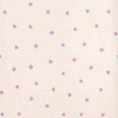 Papel De Parede Importado Infantil Rosa Florzinhas Dekor