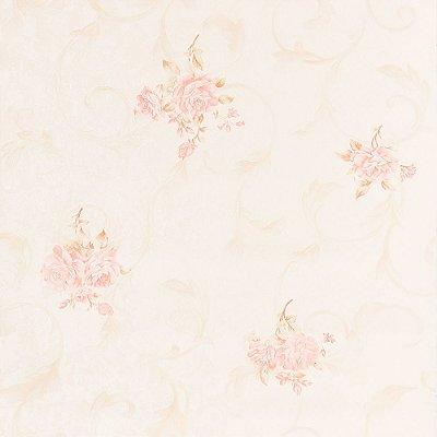 Papel de Parede Importado Vinílico Lavável Textura em Relevo Floral 8155