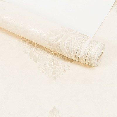 Papel de Parede Importado Vinílico Lavável Textura em Relevo Arabesco 56103