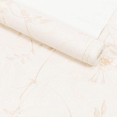 Papel de Parede Importado Vinílico Lavável Textura em Relevo Floral 8022