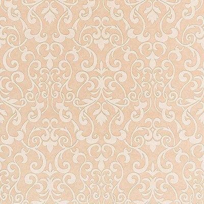 Papel de Parede Importado Vinílico Lavável Textura em Relevo Arabesco 66013