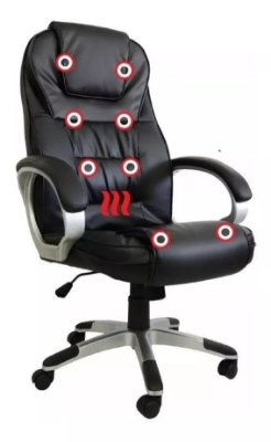 Cadeira Escritório Presidente Com Massagem e Aquecimento