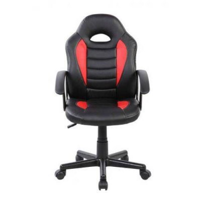 Cadeira Gamer Kids Base Giratória Preto com Vermelho
