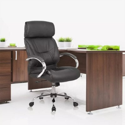 Cadeira Escritório Presidente Giratória Encosto Alto Premium