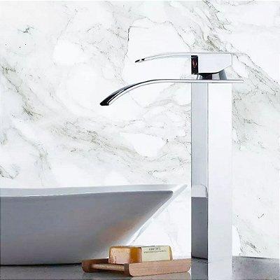 Torneira Banheiro Cascata Alta Com Misturador Monocomando