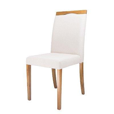 Cadeira Madeira Fit Estofada com Cabeceira Para Mesa de Jantar