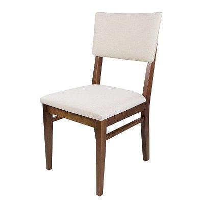 Cadeira Madeira New York Estofada para Mesa de Jantar