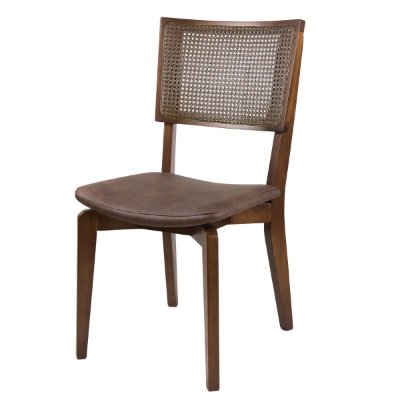 Cadeira Madeira Rio Tela Sextavada para Mesa de Jantar