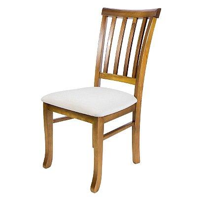Cadeira Madeira Arte Ripada Estofada para Mesa de Jantar