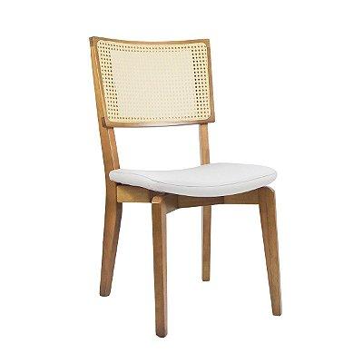 Cadeira Madeira Rio Tela Sextavada Natural para Mesa de Jantar