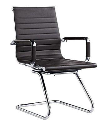 Cadeira Escritório Charles Eames Interlocutor Fixa Preto