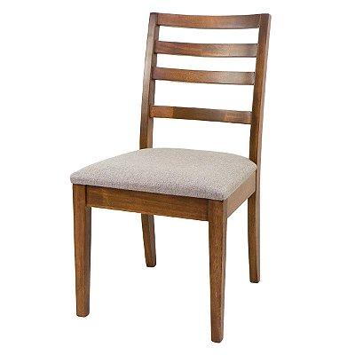 Cadeira Florida Para Mesa de Jantar Ripada Madeira Maciça