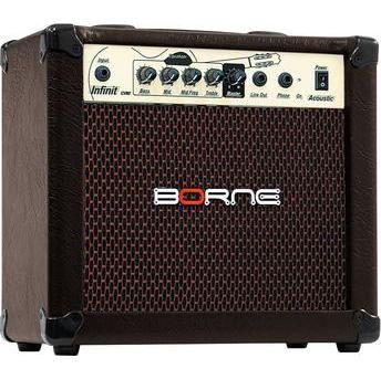 Amplificador borne infinit cv80 marron acústico para violão