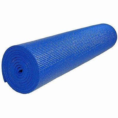 Tapete Colchonete Yoga Pilates Ginástica Azul 170x60cm