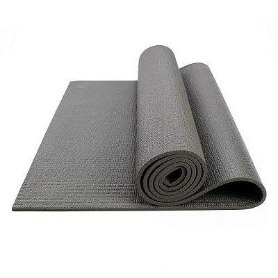Tapete Colchonete Yoga Pilates Ginástica Cinza 170x60cm