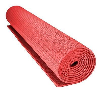 Tapete Colchonete Yoga Pilates Ginástica Vermelho 170x60cm