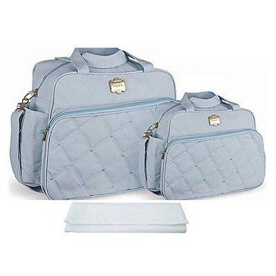 Kit Bolsa Bebê Maternidade Azul Claro com Trocador