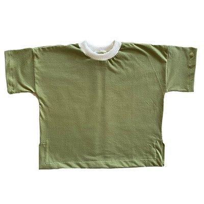 Blusa Algodão Orgânico Tingido Natural Verde Oliva
