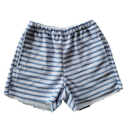 Short Infantil Pina Malha Sustentável Listras Azul Céu