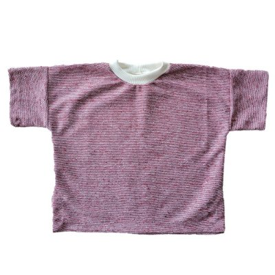 Blusão Infantil Pina Malha Sustentável Mescla Bordô