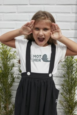 Camiseta Infantil Mother Foca Off White