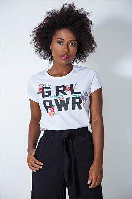 Camiseta Feminina GRL PWR Bordada