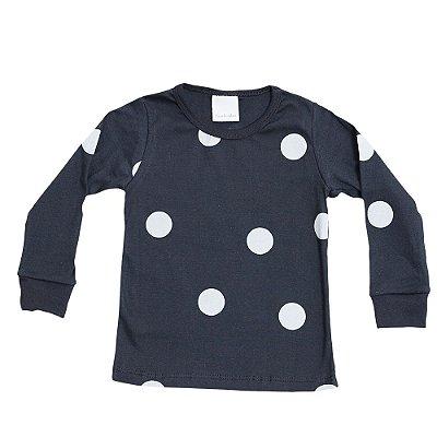 Pijama Infantil Bacim Malha Preto e Cinza