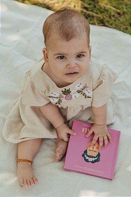 Vestido Bebê Maria Linho Cru Bordado