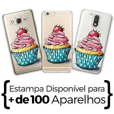 Capinha - Cupcake Morango