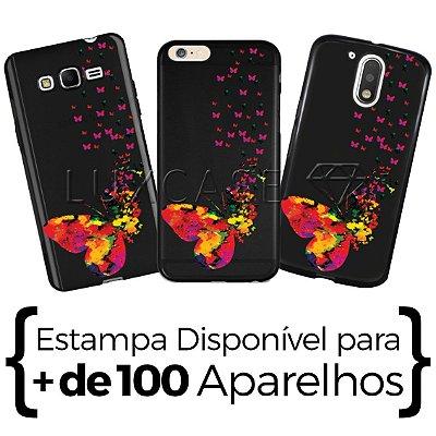 Capinha - Borboletas Coloridas - Black