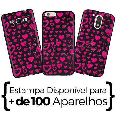 Capinha - Corações Rosa - Black