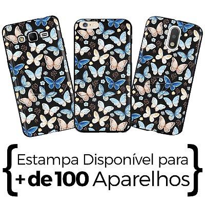 Capinha - Borboletas Blue - Black