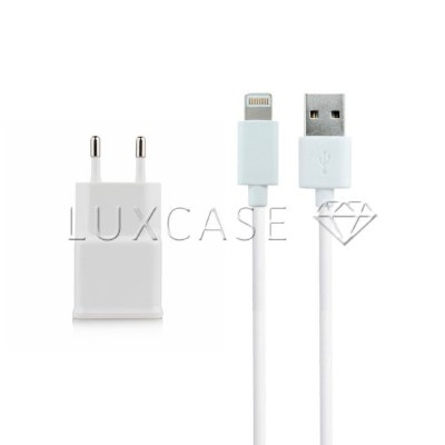 Kit 2 em 1 - Fonte Carregador + Cabo Lightning para iPhone 5/6 USB - Kingo
