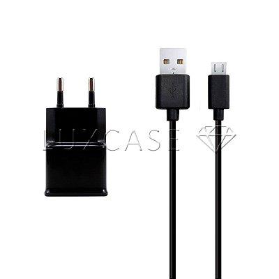 Kit 2 em 1 - Fonte Carregador + Cabo Micro USB - Kingo