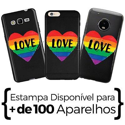 Capinha Love Arco-iris - Black